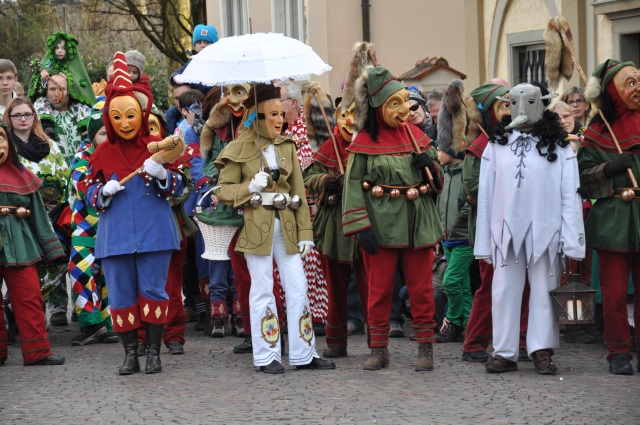 Fasching parade in Allgäu
